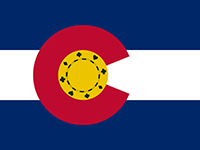 Colorado Flag Poker Chip