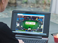 Girl Playing Online Poker